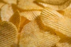 Bakgrund för chiper för Coseup makro frasig med klart textur för tapet, för räkning, för baner Royaltyfria Bilder