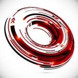 Bakgrund för cirkel för techno 3D för vektor abstrakt Royaltyfri Fotografi
