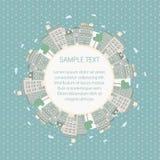 Bakgrund för cirkelcityscaperam Royaltyfri Bild