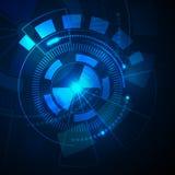 Bakgrund för cirkelteknologiabstrakt begrepp, ljus - blå färg Royaltyfri Foto