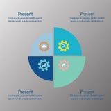 Bakgrund för cirkelteknologiabstrakt begrepp, ljus - blå färg Royaltyfri Fotografi
