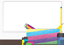 Bakgrund för classsroom för vektor för blyertspennafall Stock Illustrationer