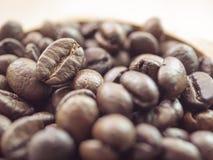Bakgrund för closeup för kaffebönor Arkivfoton