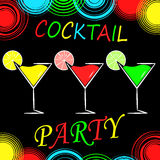 Bakgrund för cocktailpartydesignmeny Royaltyfri Fotografi