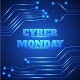 Bakgrund för Cybermåndag försäljning stock illustrationer