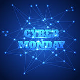 Bakgrund för Cybermåndag försäljning royaltyfri illustrationer