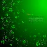 Bakgrund för dag för St Patrick ` s med treklövern Arkivbild