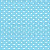 Bakgrund för dag för valentin` s med den gulliga pilen och hjärta på blå bakgrund Stock Illustrationer