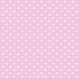 Bakgrund för dag för valentin` s med den gulliga pilen och hjärta på rosa bakgrund Arkivfoto