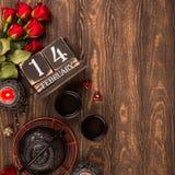Bakgrund för dag för valentin` s Fotografering för Bildbyråer