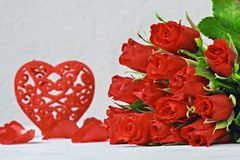 Bakgrund för dag för valentin` s Royaltyfri Fotografi