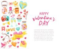 Bakgrund för dag för valentin` s med prövkopiatext Royaltyfri Fotografi