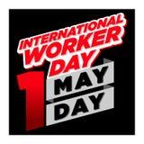Bakgrund för day_black för arbetare för Maj dag internationell stock illustrationer