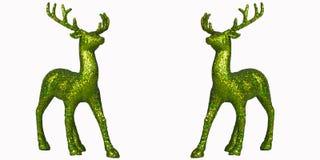 Bakgrund för Deersjulvit Royaltyfria Foton