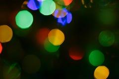 Bakgrund för defocus för julljus fotografering för bildbyråer