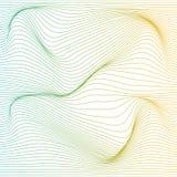 Bakgrund för deformering för vektorfärgband vektor illustrationer