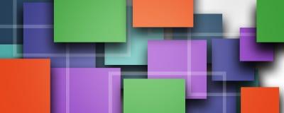 Bakgrund för design för abstrakt begreppkvartermall, enkla geometriska former på vit vektor illustrationer