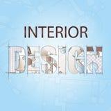 Bakgrund för design av inre Arkivfoto