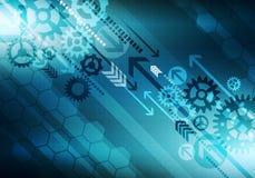 Bakgrund för Digital begreppsmässig affärsteknologi med pilen och Royaltyfri Fotografi