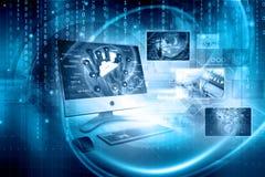 Bakgrund för Digital teknologi royaltyfri bild