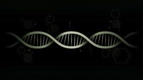 Bakgrund för DNAillustrationvektor Royaltyfri Bild