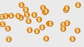 Bakgrund för dollarmyntanimering stock illustrationer
