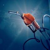 Bakgrund för dysa 3d för bränslegas fyllnads- digital global kvalitets- futuristisk , bensin, begrepp för biltrans.framtid Fotografering för Bildbyråer