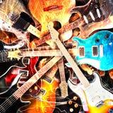 Bakgrund för elektriska gitarrer Royaltyfri Foto