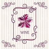 Bakgrund för etikett för vindruvor Royaltyfri Fotografi
