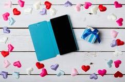 Bakgrund för ett kort för Februari 14 St Valentine& x27; s-dag Arkivfoto