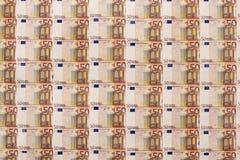 bakgrund för euro 50. Royaltyfria Bilder