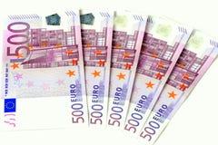 pengar för euro 500 Fotografering för Bildbyråer