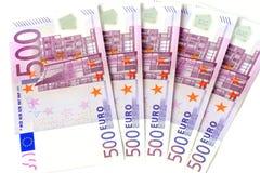 pengar för euro 500 Arkivbild