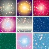Bakgrund för färg för suddighetsbokehabstrakt begrepp ljus Royaltyfri Bild