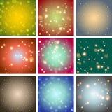 Bakgrund för färg för suddighetsbokehabstrakt begrepp ljus Arkivbilder