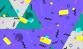 Bakgrund för färg för popkonst Memphis modell vektor illustrationer