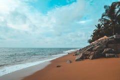 Bakgrund för färg för strandlandskaptappning Royaltyfri Bild