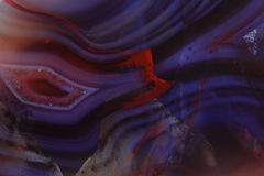 Bakgrund för färgagatmineral Royaltyfri Fotografi