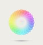 Bakgrund för färghjul Arkivbild