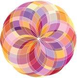 Bakgrund för färghjul. Vektorillustration Arkivfoto