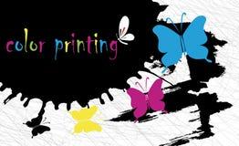 Bakgrund för färgprinting Arkivbilder