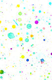 Bakgrund för färgstänk för vattenfärg Fotografering för Bildbyråer