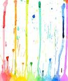 Bakgrund för färgstänk för vattenfärg Royaltyfri Fotografi