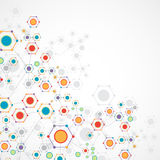 Bakgrund för färgteknologikommunikation Arkivbilder