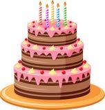 Bakgrund för födelsedagkaka Arkivfoto