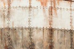 Bakgrund för fastnitade plattor för skeppstål Arkivfoton