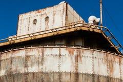 Bakgrund för fastnitade plattor för skeppstål Arkivfoto