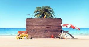Bakgrund för ferie för tecken för mellanrum för sommartid vektor illustrationer