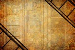 Bakgrund för film för Grungebionedräkning royaltyfri bild