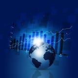 Bakgrund för finansdiagramaffär Arkivbilder